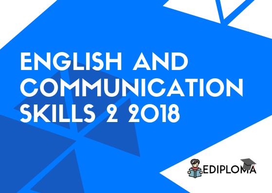 BTE Question Paper of English and Communication Skills 2 2018