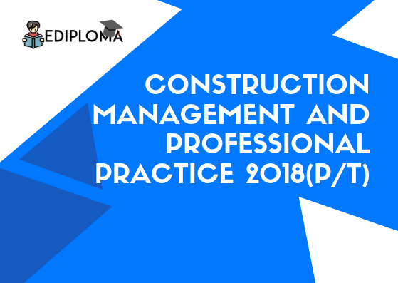 BTE Question Paper of Construction Management and Professional Practice 2018