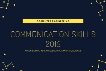 BTE Question Paper of Communication Skills 2016 [Computer Engineering]