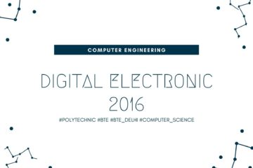 BTE Question Paper of Digital Electronic 2016 [Computer Engineering]